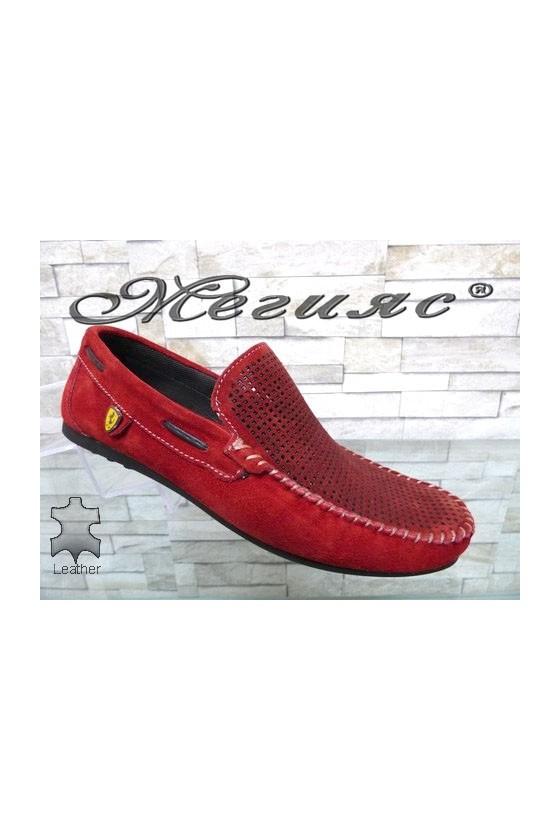 Мъжки обувки тип мокасини от естествен велур 507