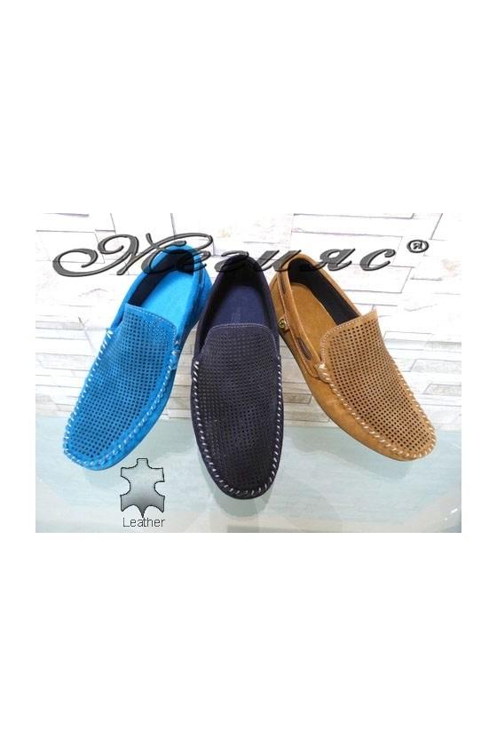 507 Men's shoes blue/beige suede