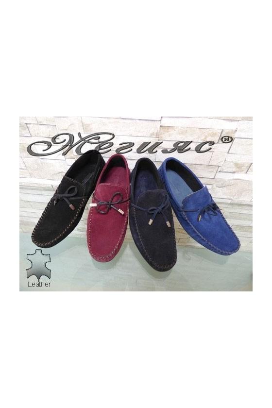 506 Men's shoes blue/wine/black suede