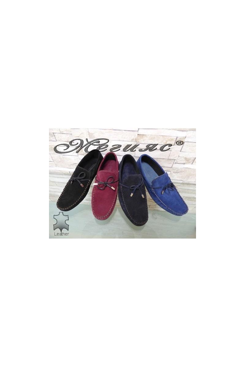 506 Мъжки обувки тип мокасини от естествен велур