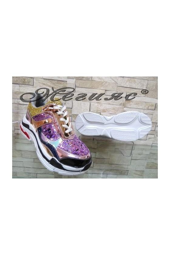 3312 Lady sport shoes purple pu