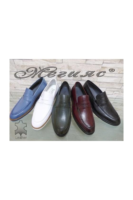 0168 Мъжки елегантни обувки от естествена кожа
