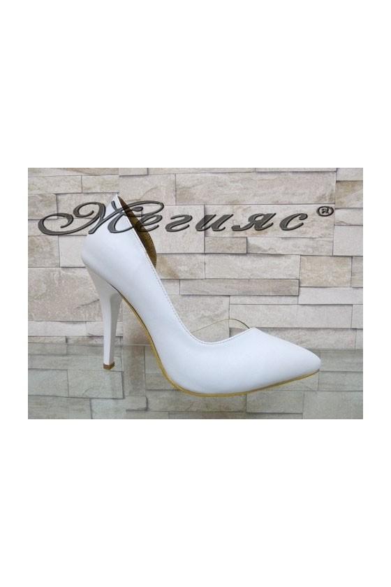 3355 Women elegant shoes white pu