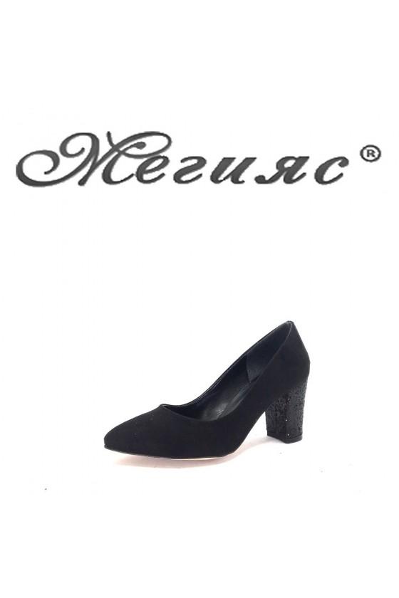 001194 Дамски обувки черни елегантни на ток