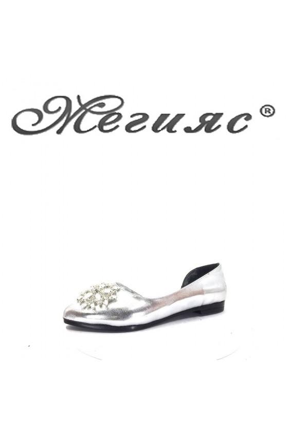 0757 Дамски обувки сиви тип пантофИ