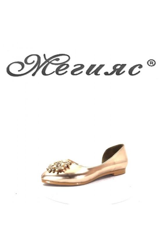 0757 Дамски обувки бакър тип пантофи