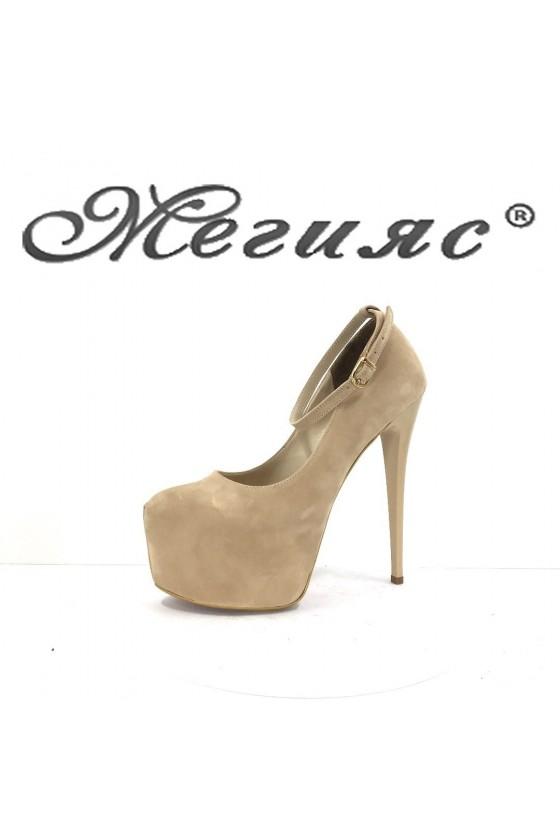 Дамски обувки черни елегантни на висок ток