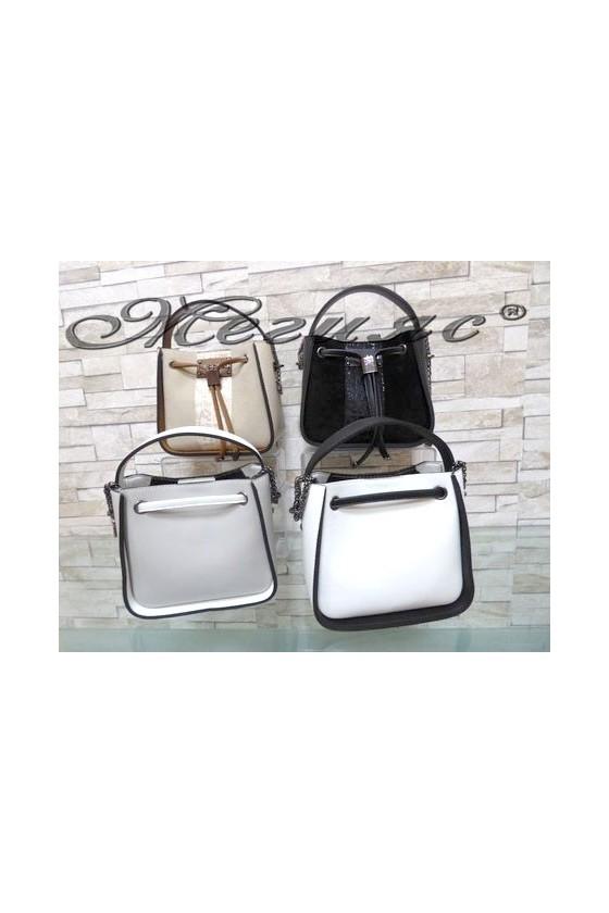 1299 Lady bag beige/grey/black pu