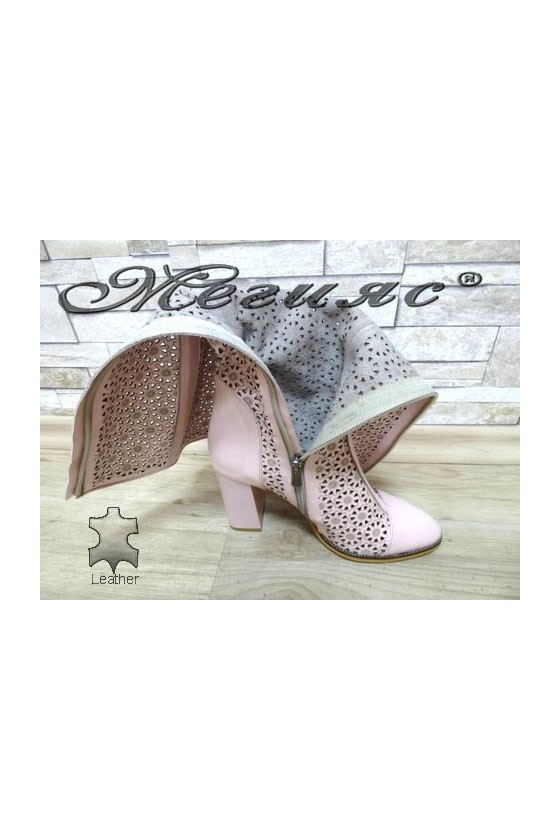 2024-143 Women summer boots nude leather
