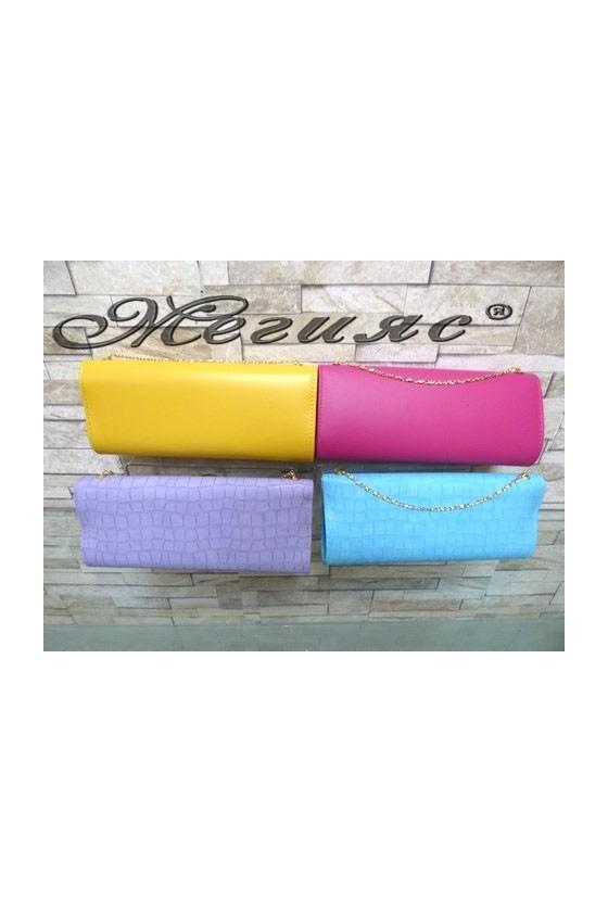 1194 Lady bag fushia/yellow pu