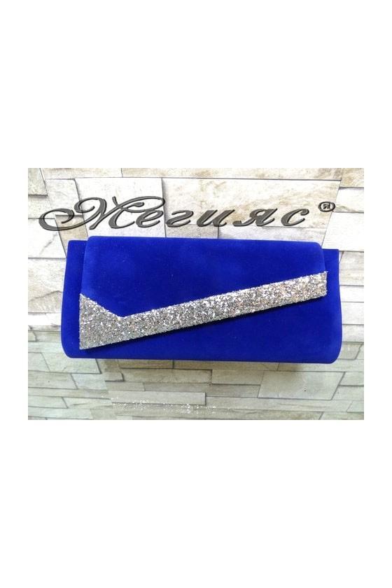 371 Lady bag blue suede
