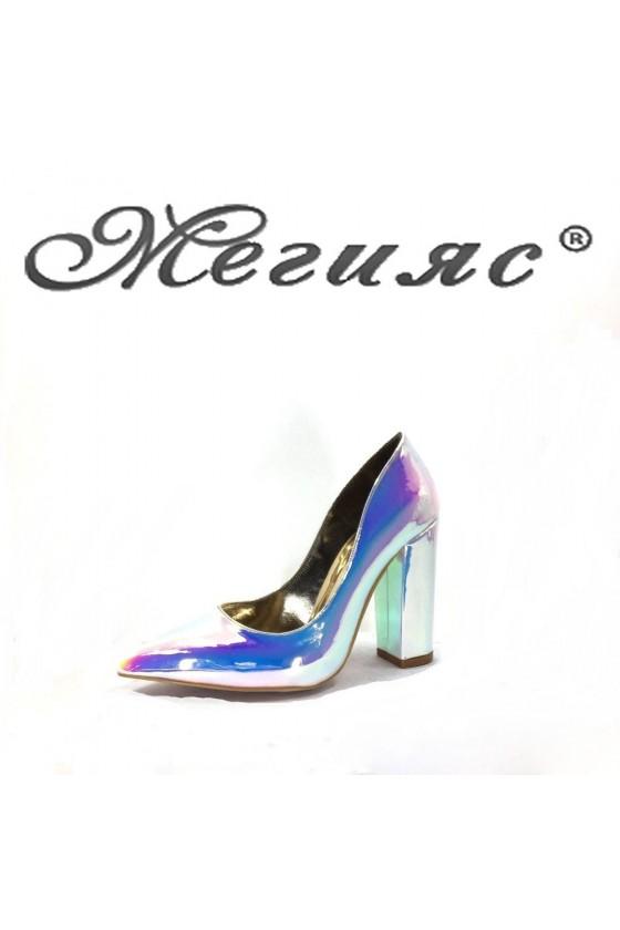 0543 Дамски обувки неон на висок ток