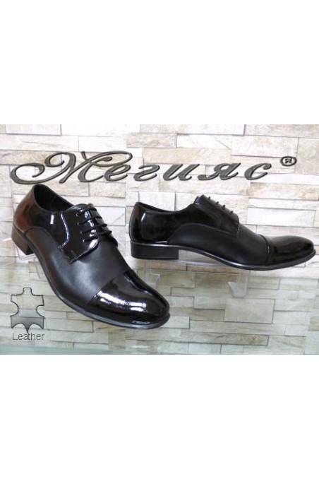 203 XXL Men's shoes black leather