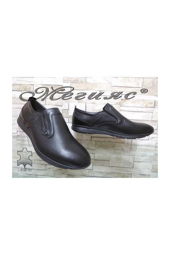 161 XXL Мъжки обувки гигант черни от естествена кожа