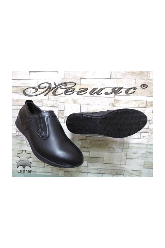 161 XXL Men's shoes black leather