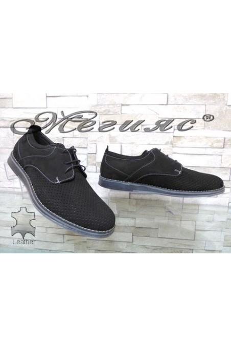 360-1 XXL Men's shoes black suede
