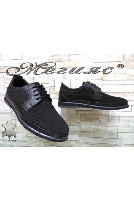 278-020-014 Men's shoes black suede