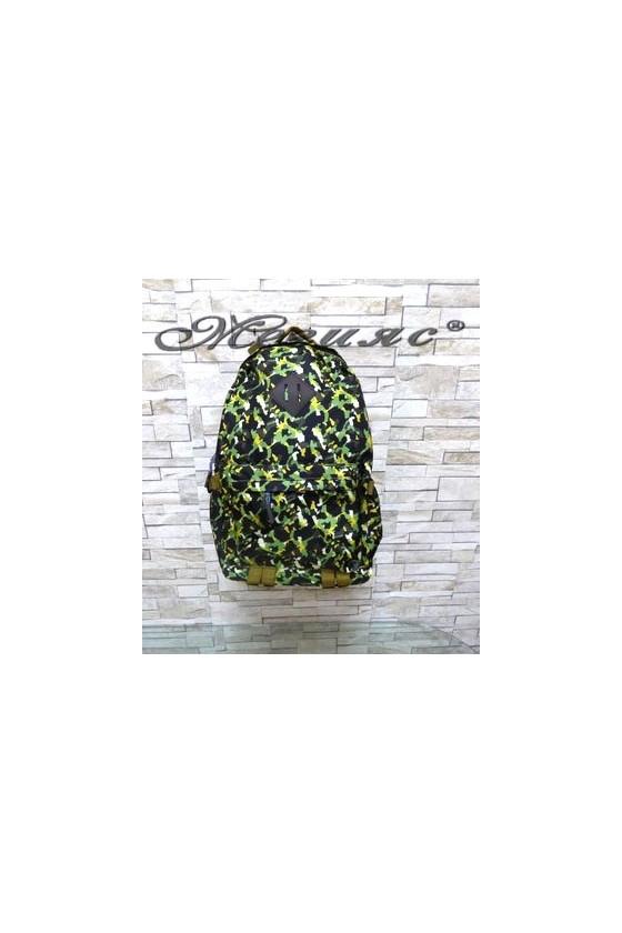 8828 Дамска раница зелена от текстил