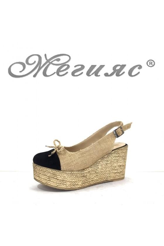 4474 Lady platform sandals beige