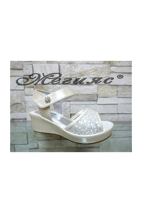 035-Y Children's sandals white pu