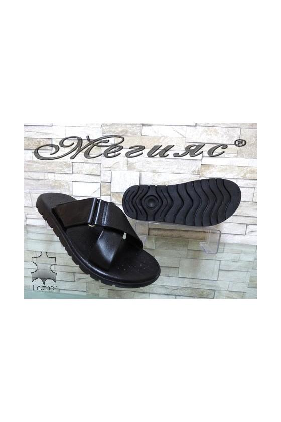 932 Men's sandals black leather