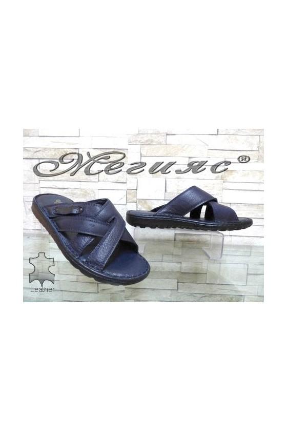 103/06 Men's sandals blue leather