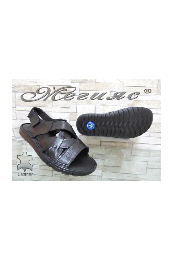 86/01 XXL Men's sandals black leather