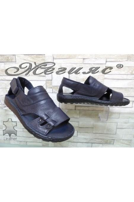 206/06 Мъжки сандали сини от естествена кожа