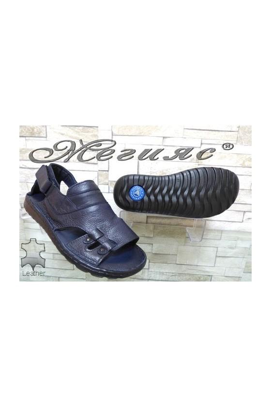 206/06 Men's sandals blue leather