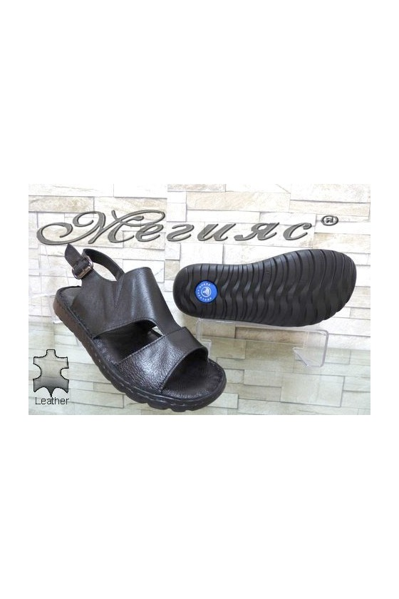 107/01 XXL Men's sandals black leather