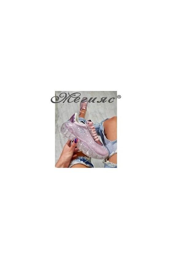 95 Дамски спортни обувки пудра тип маратонки