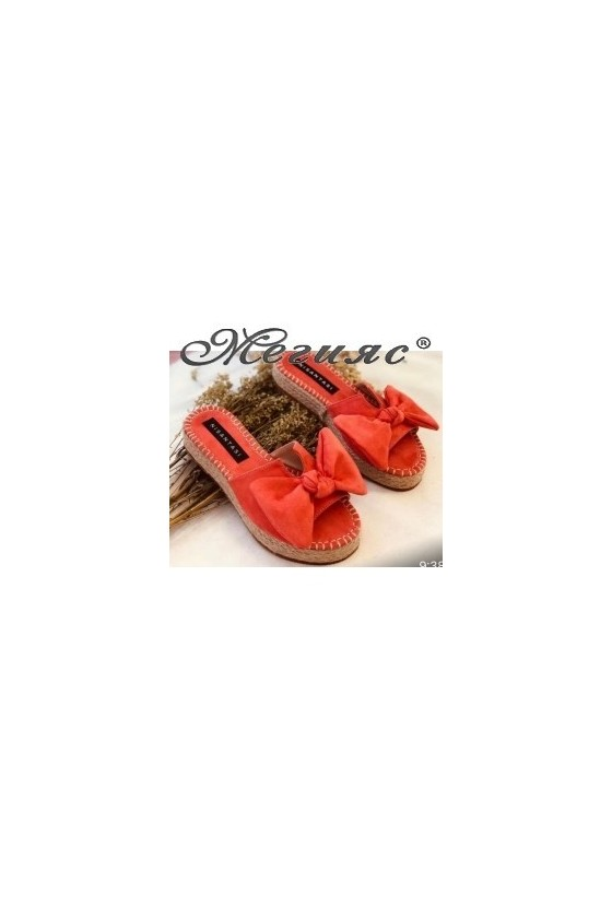 620 Lady sandals coral  sued