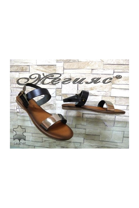 816 Lady sandals black leather