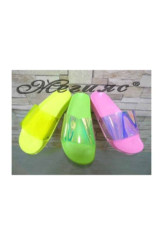 2224 Lady sandals yellow/green/pink