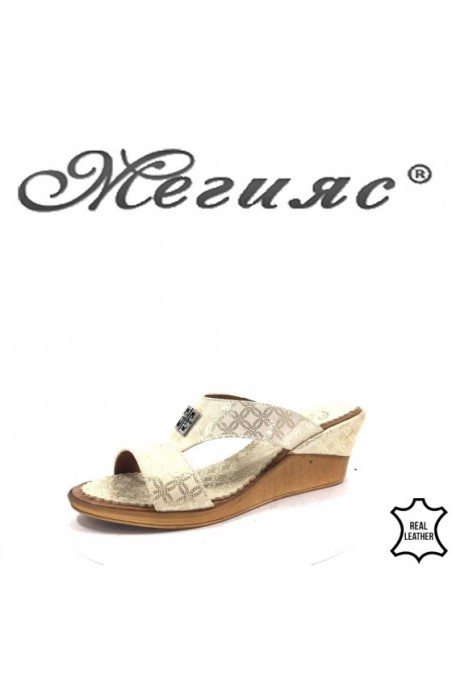 502 Lady sandals beige leather