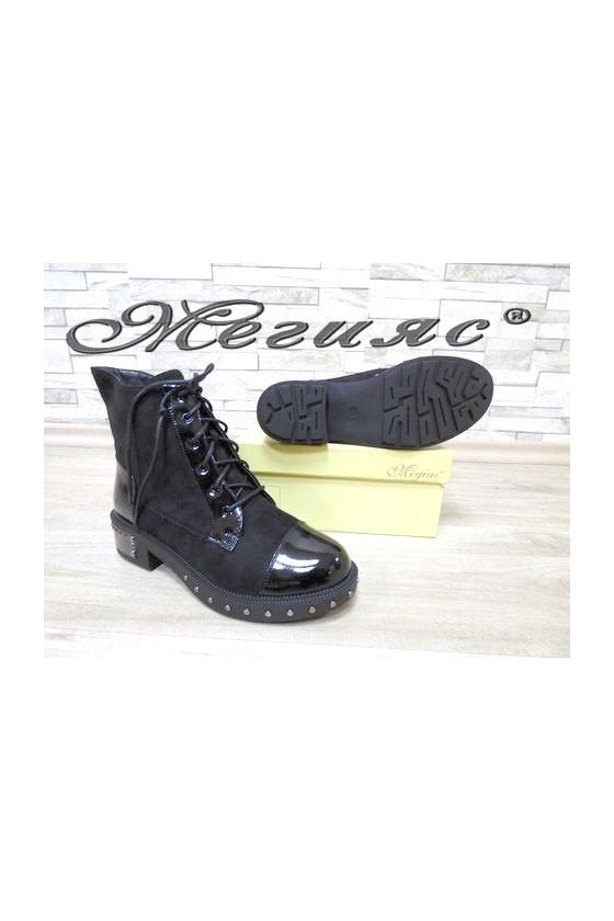 19-1415 Christine Women boots black suede/patent