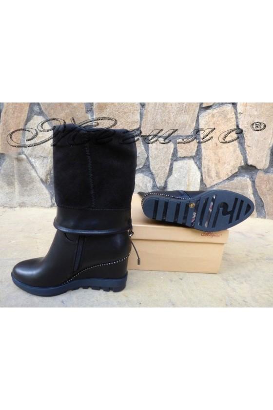JACK 19-1520 Lady platform boots black pu