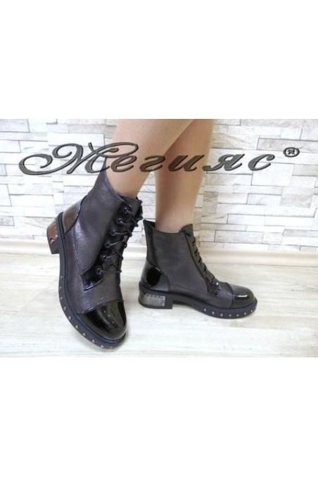 19-1416 Christine Women boots dk.grey/black