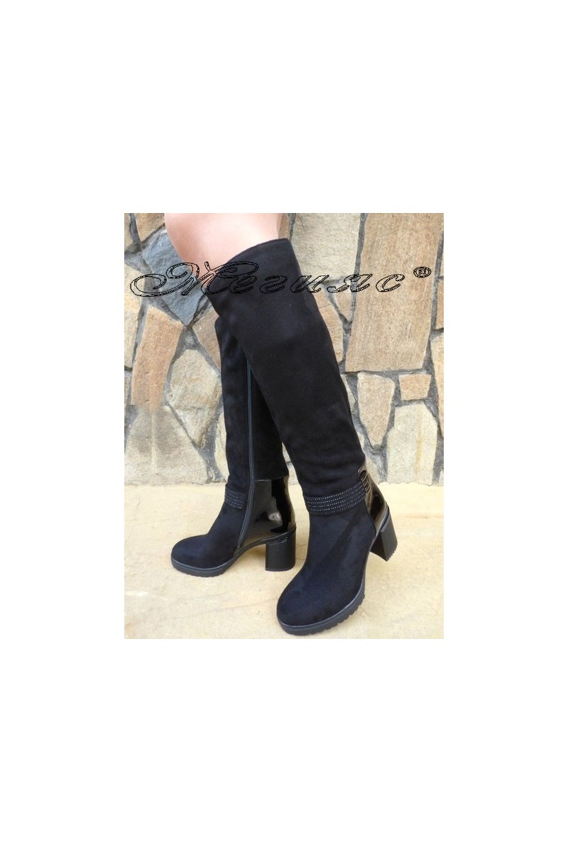 Christine 19-1419 Lady boots black suede
