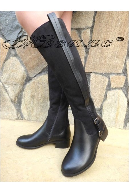 Christine 19-1429 Lady boots black pu