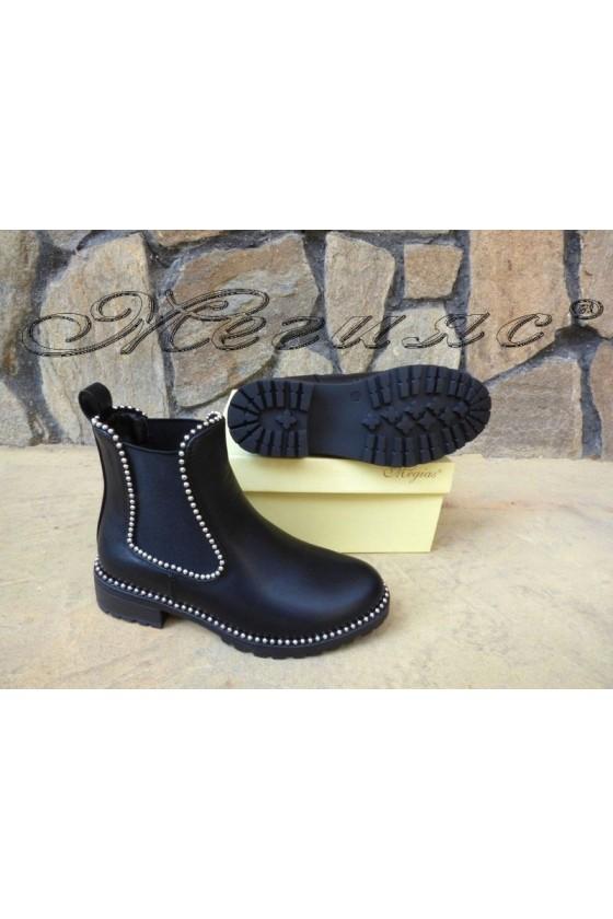 Women boots CASSIE 19-1450 black pu