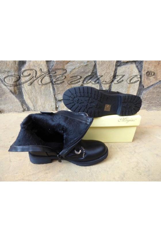 Women boots CASSIE 19-1479 black pu