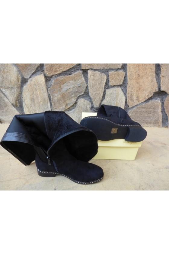Women boots CASSIE 19-1460 black suede