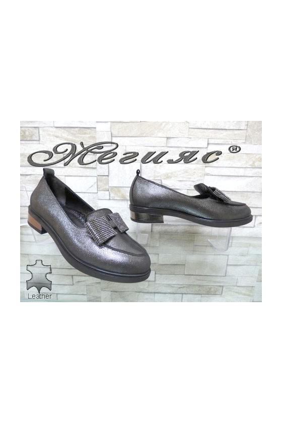 1031-11 Дамски обувки черни от естествена кожа ежедневни