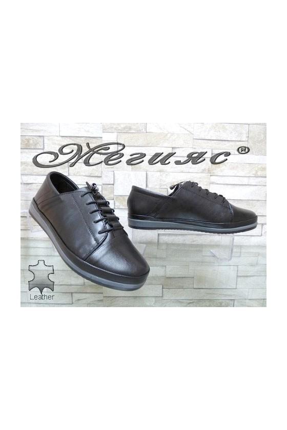 309 Women shoes  black  leather