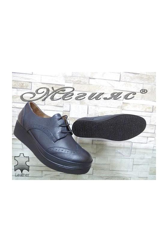 1014  Women shoes blue leather