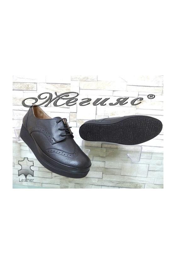 1014 XXL Lady shoes black leather
