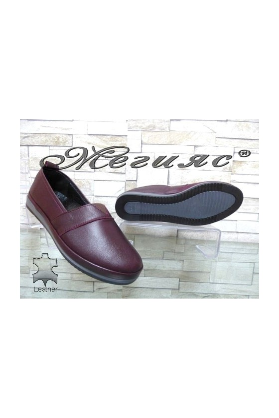 301 Lady shoes wine leather