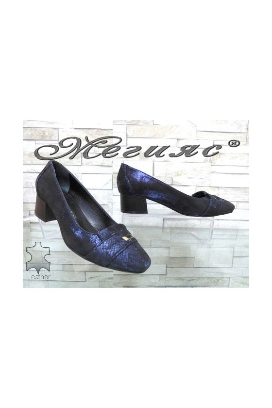 76-73 Lady shoes blue leather