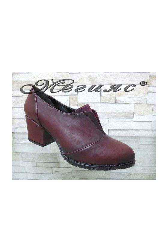 203-A Lady shoes wine pu